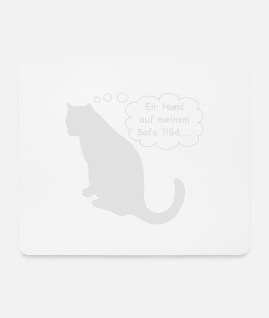 Offended Mouse Pads - Cat, hangover is offended gift T-shirt - Mouse Pad white