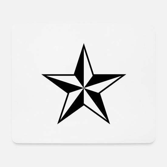 Rock Mouse Pads - Star star - Mouse Pad white