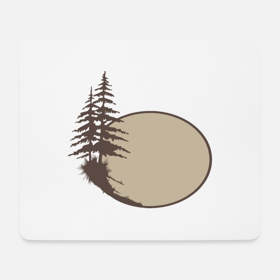 Forest Animal Mouse Pads - black forest Black Forest Forest trees 03 451 - Mouse Pad white