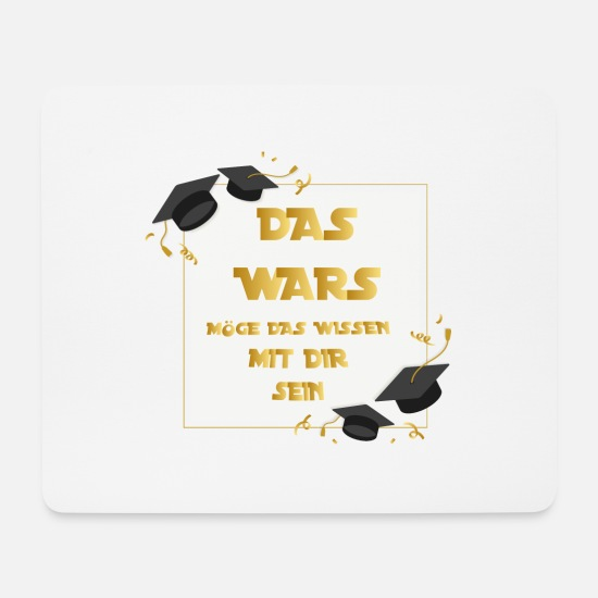 Gift Idea Mouse Pads - Abi school college gift anniversary graduation - Mouse Pad white