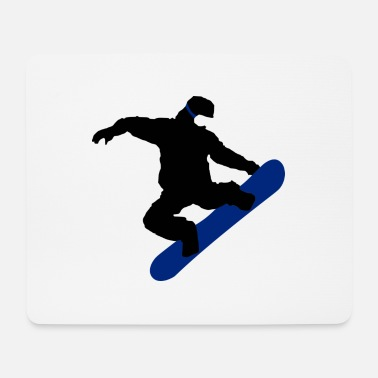 Snowboarder blu nero - Tappetino mouse
