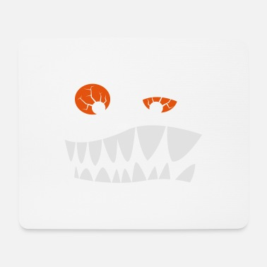 Red Eyes Toothed grimace with red eyes - Mouse Pad