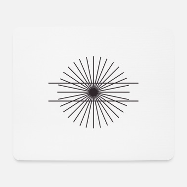 Decepticon Optical illusion math geometry line view - Mouse Pad