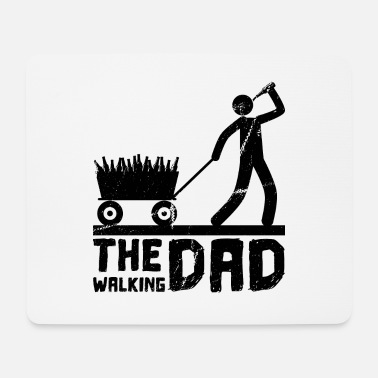 Hand Cart Walking Dad Men's Day Beer Father Carts - Mouse Pad