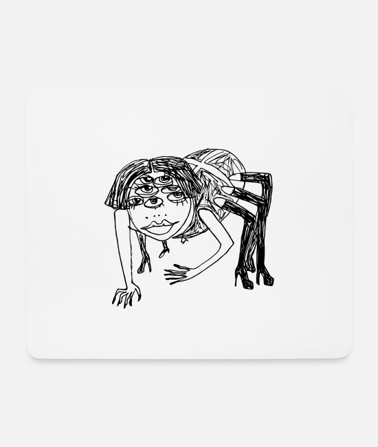 Widow Mouse Pads - Sexy Black Widow - Mouse Pad white
