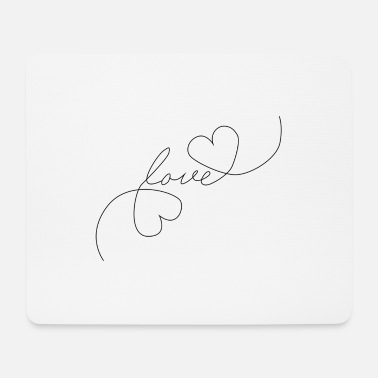 Tlc Heart Love - Oneline - Mousepad