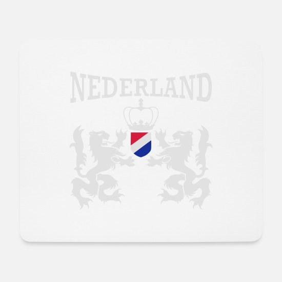 Orange Mouse Pads - Nederland emblem - Mouse Pad white