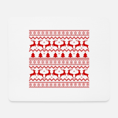 Christmas pattern with reindeer, snowflakes - Mouse Pad