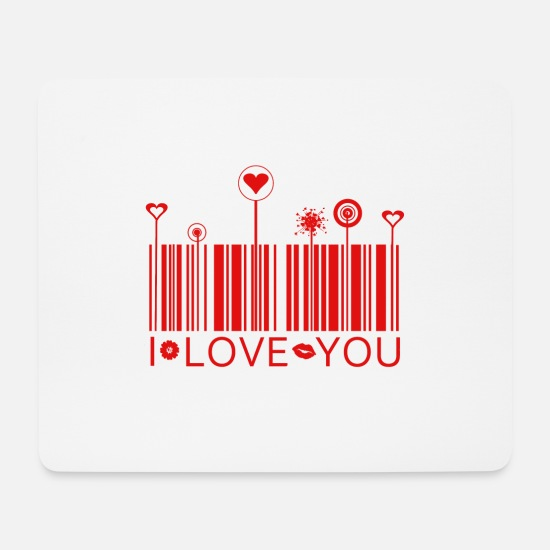 Romantisch Mousepads  - I love you - Mousepad Weiß