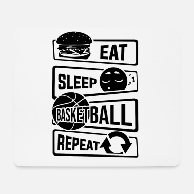 B Ball Eat Sleep Basketball Repeat - B-Ball Ball Sports - Mouse Pad