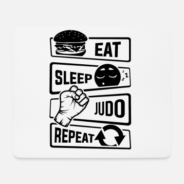Minimum Eat Sleep Judo Repeat - Martial forsvar - Mousepad (bredformat)
