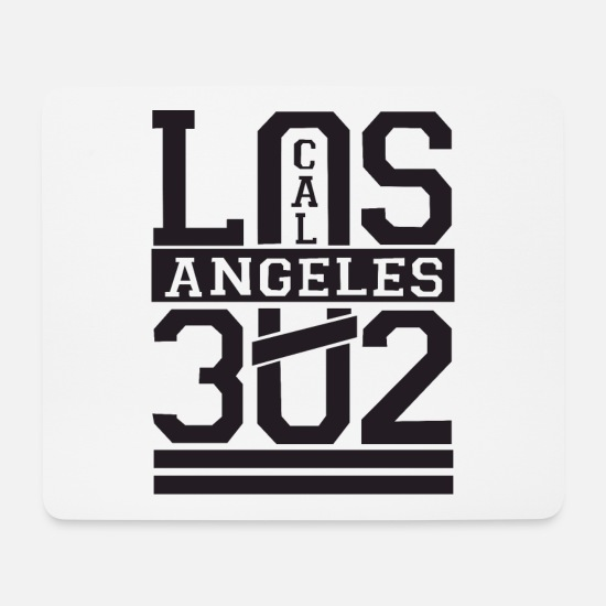 Birthday Mousepads  - Los Angeles - Mousepad Weiß