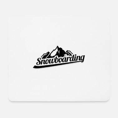 Helmet Snowboarding - Mouse Pad