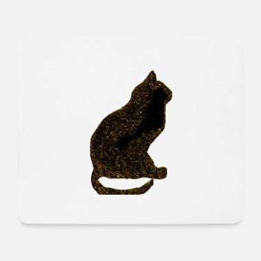 Deluxe Golden glitter cat - Mouse Pad