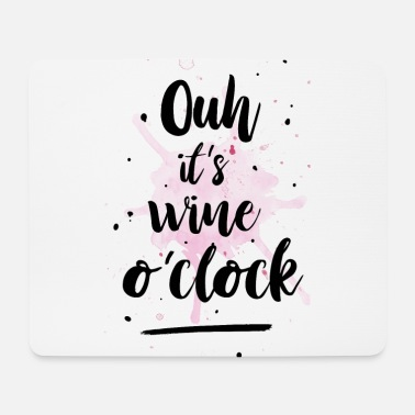Clock Wine o`clock - Mousepad (Querformat)