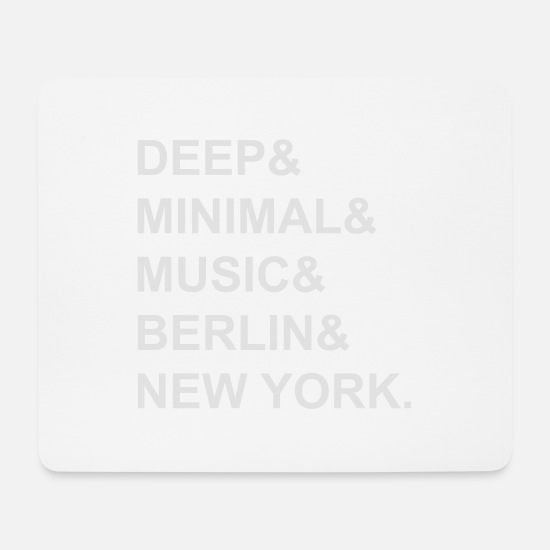House Music Mouse Pads - Minimal & - Mouse Pad white