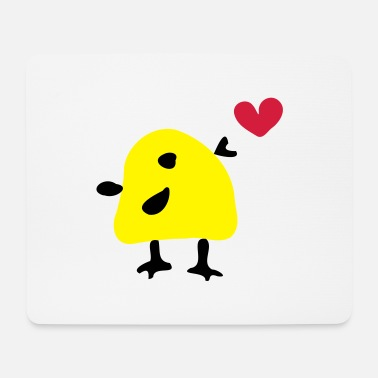 Vector Underwear Cute yellow bird - Mouse Pad