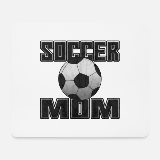 Stadium Mouse Pads - Soccer MOM grunge - Mouse Pad white