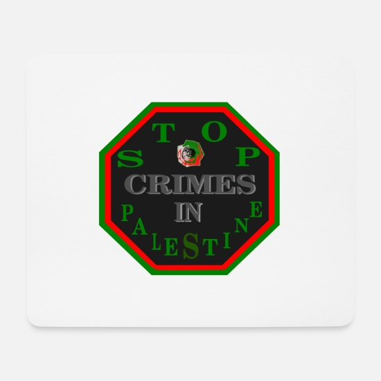 Panel Mouse Pads - Panel stop crimes in Palestine. - Mouse Pad white