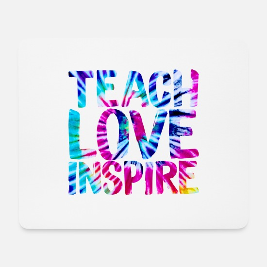 Love Mouse Pads - Teach Love Inspire - Mouse Pad white