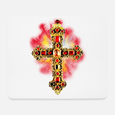 Glamour Cross Cross Glamour Gold Gems - Mouse Pad