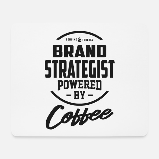 Typography Mouse Pads - Brand Strategist - Mouse Pad white