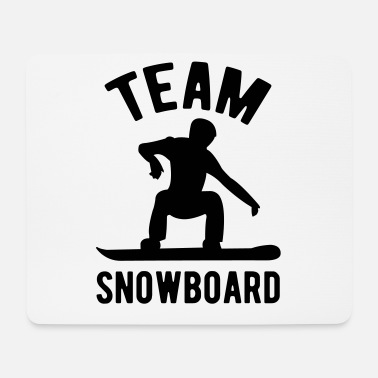 Snowboard Snowboard team snowboard snowboard - Tappetino per mouse (orizzontale)