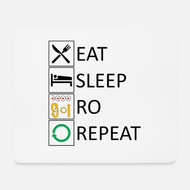 Rally Obedience Eat sleep RO repeat - Mouse Pad