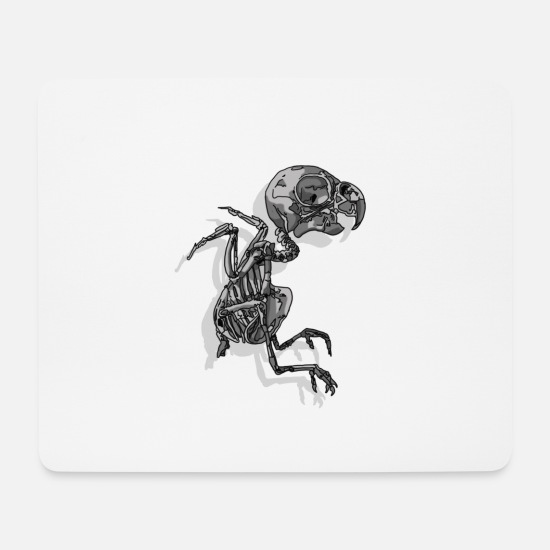 Black And White Collection Mousepads  - Spatz - Mousepad Weiß