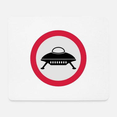 Road Sign road sign spaceship - Mouse Pad