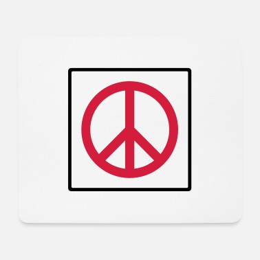 Quadrat Frieden im Quadrat / peace in square (2c) - Mouse Pad