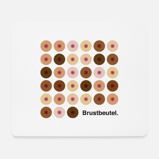 Brustkrebs Mousepads  - Brustbeutel. Digitaldruck - Mousepad Weiß