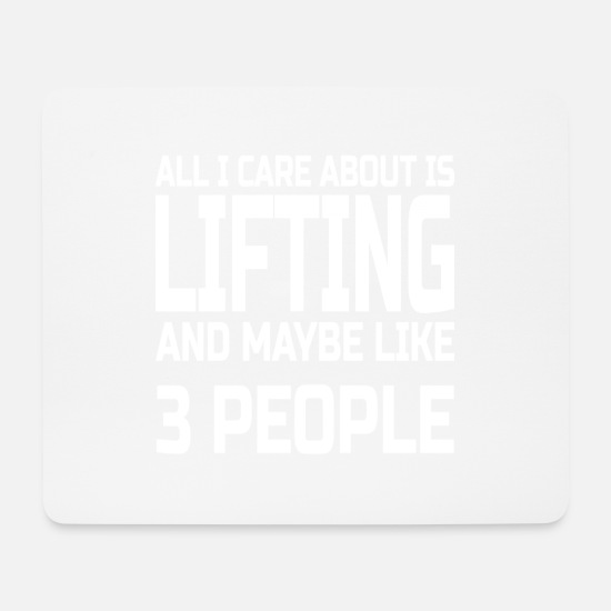 Lifting Mouse Pads - Care about lifting - Mouse Pad white