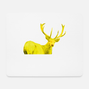Deer stag yellow - Mouse Pad
