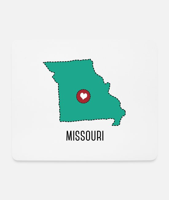 National Mouse Pads - Missouri State Herz - Mouse Pad white
