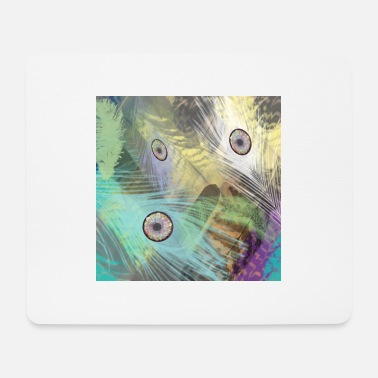 Bright Colours bright coloured feathers - Mouse Pad