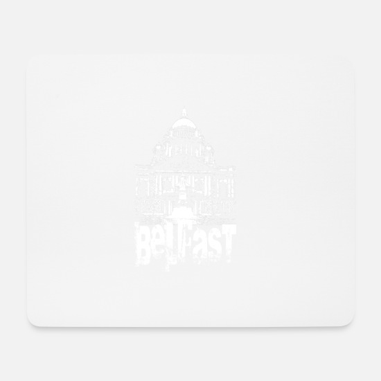 Northern Ireland Mouse Pads - Belfast Hall - Mouse Pad white