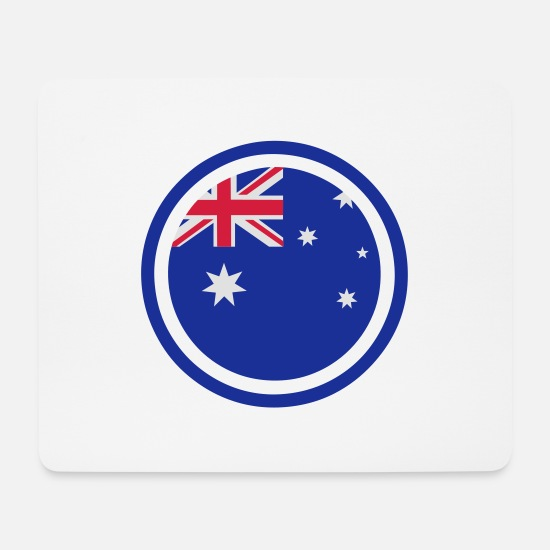 Country Mouse Pads - Australia Emblem - Mouse Pad white