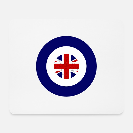 Wale Mouse Pads - Roundel Union Jack - Mouse Pad white