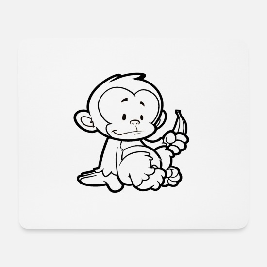 Monkey Mouse Pads - Cheeky Monkey - Mouse Pad white