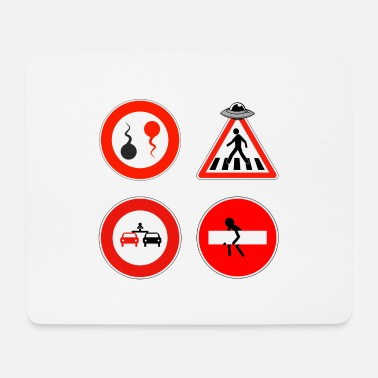Funny Road Sign Road signs - Mouse Pad