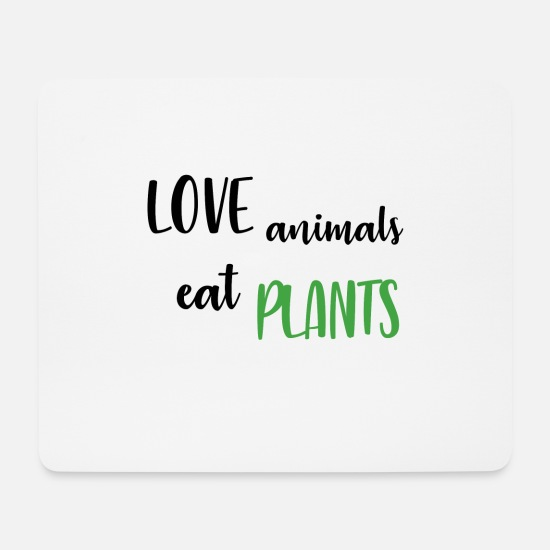 Animal Rights Muismatjes  - Love Animals - Muismat wit