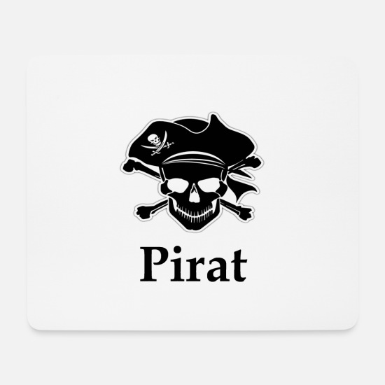Skull And Bones Mouse Pads - pirate - Mouse Pad white