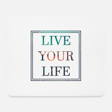 Happiness Vivez votre vie Motivation Bliss Happiness Lifegoal - Tapis de souris (format paysage)