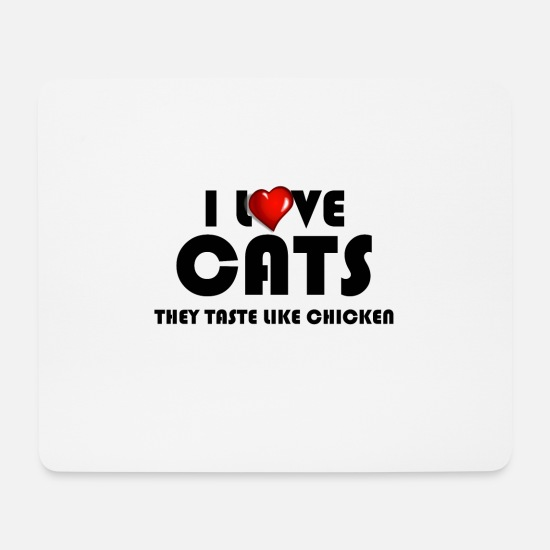 Bad Mouse Pads - cat - Mouse Pad white