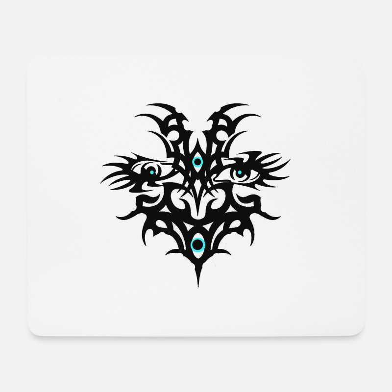 Tribal Mouse Pads - Tribal eyes - Mouse Pad white