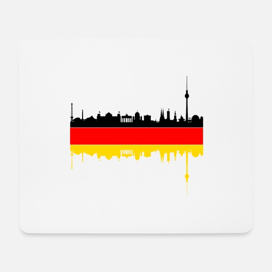 Flag Of Germany Mouse Pads - Berlin Germany flag - Mouse Pad white