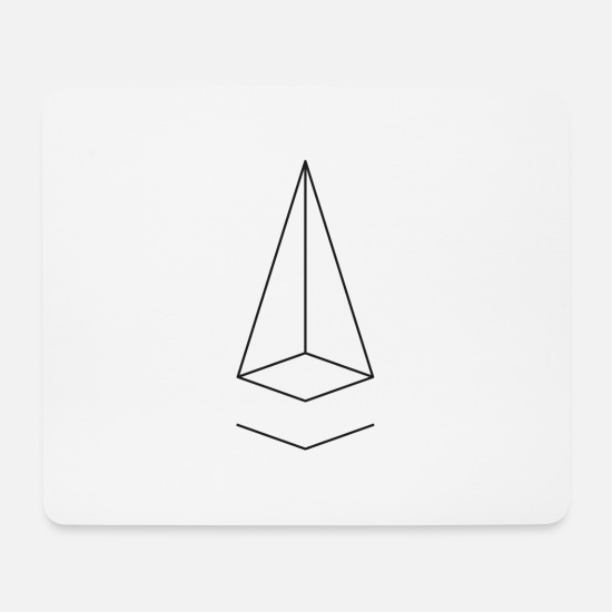 Sacred Geometry Mouse Pads - Minimal geometry - Mouse Pad white