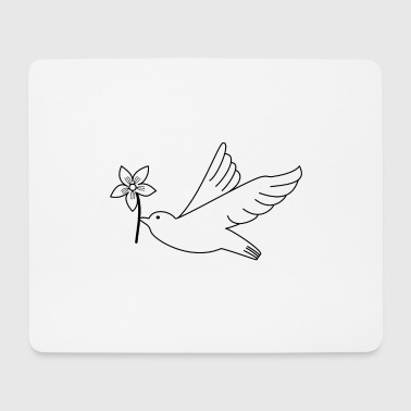 Dove flower peace luck hope flying - Mouse Pad (horizontal)