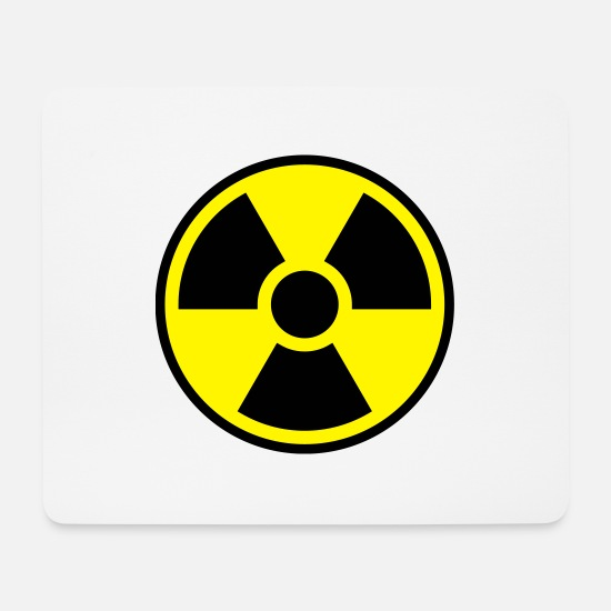 Power Tapis de souris  - Nuclear Power Symbol - Radioactivity - Tapis de souris blanc